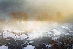 Countryside sunrise. A morning in november or december 2013, shicheng, wuyuan, jiangxi, china Royalty Free Stock Image