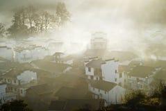 Countryside sunrise. A morning in november and december 2013, shicheng, wuyuan, jiangxi, china Royalty Free Stock Image