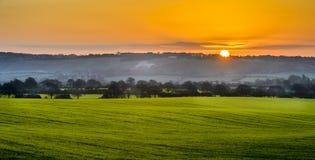 Countryside sunrise Royalty Free Stock Photo
