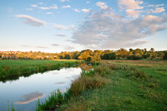 Countryside at Sunset. Countryside located in England in the village of Amesbury royalty free stock image