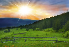 Countryside Sunset Landscape Stock Photography