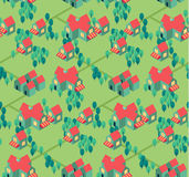 Countryside town  seamless pattern vector illustration Royalty Free Stock Photos