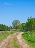 Countryside track. Idyllic rural scene in Suffolk, UK Royalty Free Stock Photos