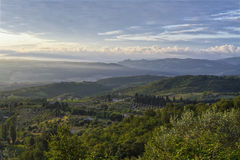 Countryside in Tuscany Royalty Free Stock Photos