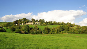 Countryside View. Of a Green Field in the Avon Valley near Bath in Somerset England royalty free stock photography