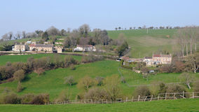 Countryside View. Landscape View of a Hamlet Nestled in the English Countryside royalty free stock photos