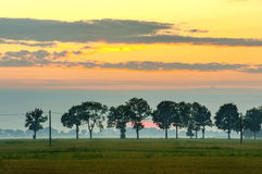 Countryside view of cultivated fields, Poland , Europe Stock Photography