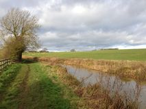 Countryside view of an English canal Stock Photo