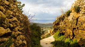 Countryside view Gozo. View over the beautiful countryside of rural Gozo Royalty Free Stock Photos
