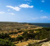Countryside View. A scenic countryside view from Mellieha, Malta Stock Photos