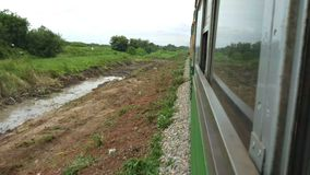 Countryside view from the train. Countryside view from the train stock video footage