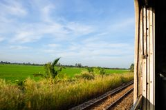 Countryside view from the train window Stock Photography