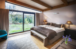 Countryside villa's bedroom Royalty Free Stock Images