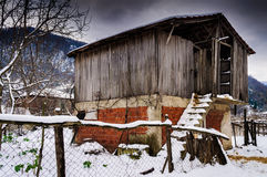 Countryside Village On Winter Snow Royalty Free Stock Photography
