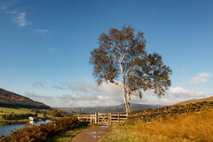 Countryside walk England. Countryside Walk Along Dovestone reservoir in Greater Manchester, England Stock Photo
