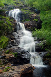 Countryside waterfall. Scenic view of waterfall in countryside Royalty Free Stock Photos