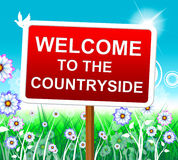 Countryside Welcome Shows Nature Greeting And Invitation Royalty Free Stock Photo