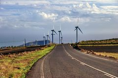 Countryside wind farm Royalty Free Stock Images