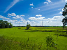Countryside wind farm Stock Photo