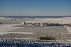 Countryside in winter Royalty Free Stock Photography