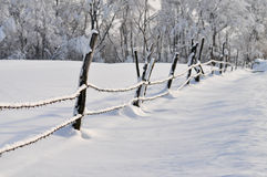 Countryside in winter Royalty Free Stock Image