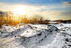 Countryside in winter Royalty Free Stock Photos