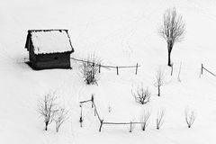 countryside winter illustration Stock Photography