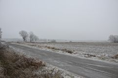Countryside winter 5. Winter in the Polish countryside Stock Photos