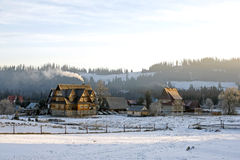 Countryside in wintertime. Royalty Free Stock Image