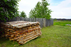 Countryside, wood fence summer day. Countryside, The wood fence summer day Royalty Free Stock Photo