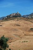 Countryside, Zahara de la Sierra, Spain. View of the town with a castle on top of the hill, Zahara de la Sierra, Cadiz Province, Andalusia, Spain, Western Stock Photo