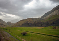 Countryside of Zardkouh mountains Royalty Free Stock Photo