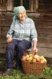 countrywomanpensionär Arkivbild