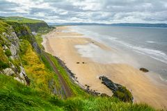 County Antrim coastline sight from Mussenden Temple stock photo