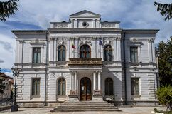 County art museum on September 30, 2020 in Targoviste, Romania. Construction elements and details.