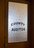 County Auditor's Office Royalty Free Stock Photography
