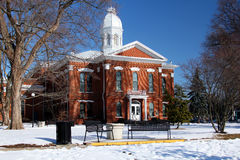 Historic building in winter Stock Image