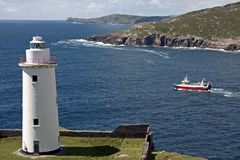 Lighthouse in County Cork, Ireland Stock Photos