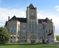 County Courthouse. Limestone Gage County courthouse in Beatrice, Nebraska, is an example of the Richardson Romanesque style Royalty Free Stock Photo