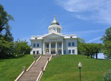 County Courthouse. Sitting on a Hill Stock Image