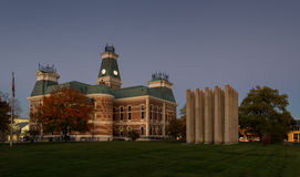 County Courthouse and Memorial stock images