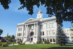 County Courthouse in Missoula, Montana Framed by Trees Royalty Free Stock Photography