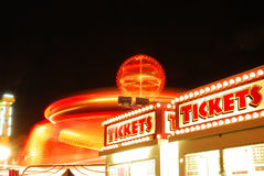 County Fair. Tickets for Fun, part of the midway at the 2009 Douglas County Fair in Roseburg Oregon at night Royalty Free Stock Photography