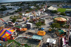 County Fair. Overview. Rides and tents royalty free stock image