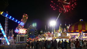 County Fair - Midway Amusement Park Rides (Editorial) stock video