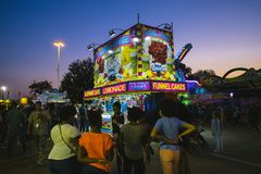 County Fair at night, Games on the midway Stock Photography