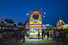 County Fair at night, Games on the midway Stock Image