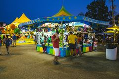 County Fair at night, Games on the midway. County Fair at night , Games on the midway stock photography