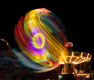 County Fair Ride at Night Royalty Free Stock Images
