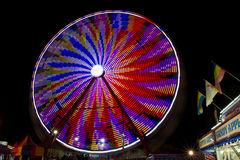 County Fair Ride at Night Stock Photography